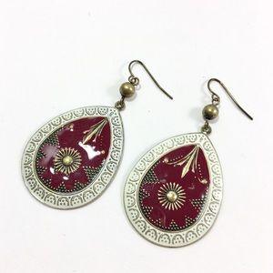 Jewelry - NWOT Enamel Teardrop Earrings